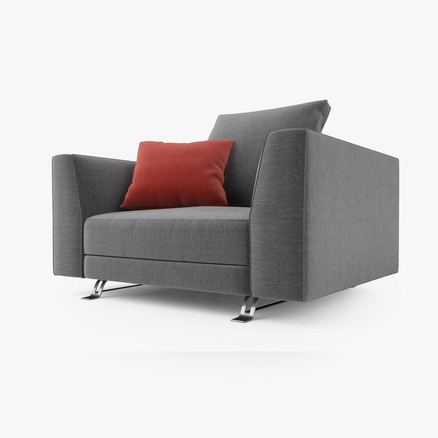 Busnelli Burton fauteuil royalty-free 3d model - Preview no. 3