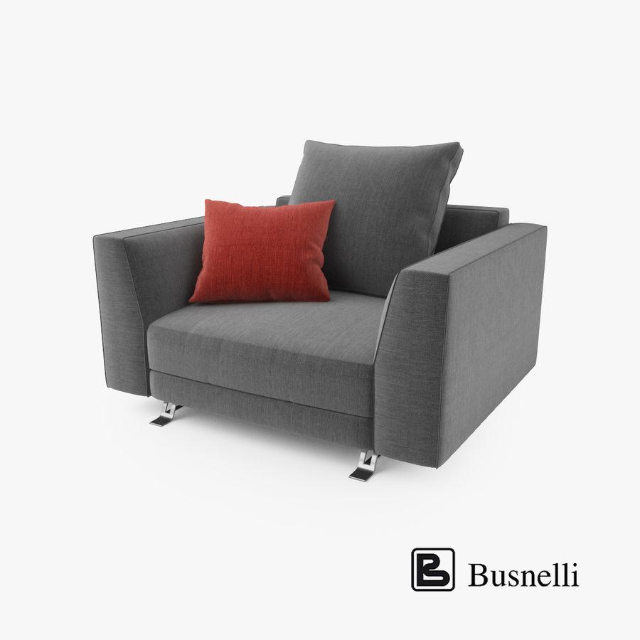 Busnelli Burton fauteuil royalty-free 3d model - Preview no. 1