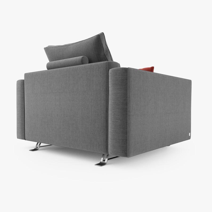 Busnelli Burton fauteuil royalty-free 3d model - Preview no. 4