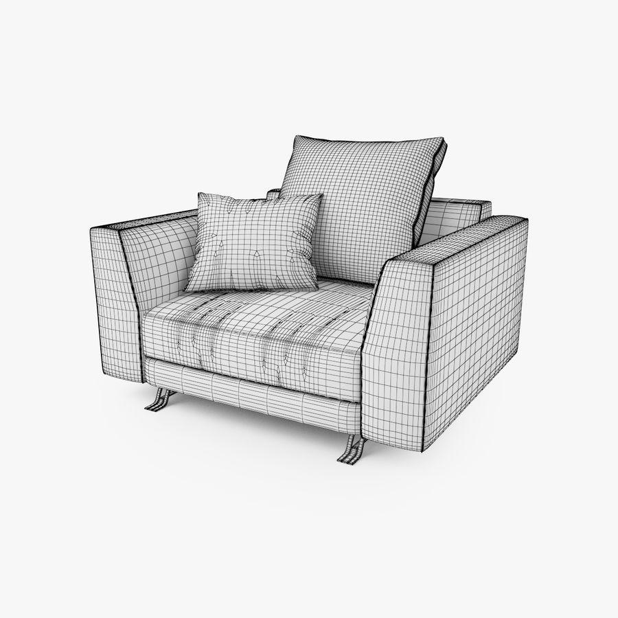 Busnelli Burton fauteuil royalty-free 3d model - Preview no. 5