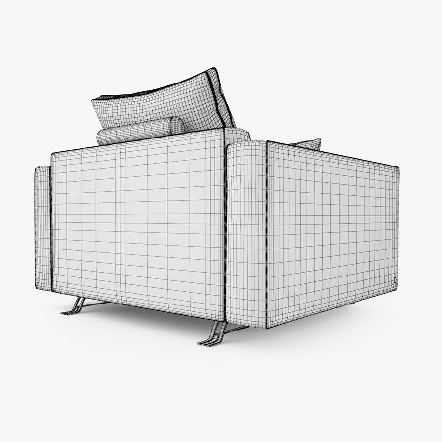 Busnelli Burton fauteuil royalty-free 3d model - Preview no. 6