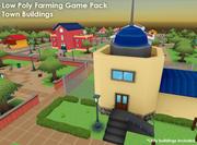 Lowpoly Farming Game Pack - Городские здания 3d model