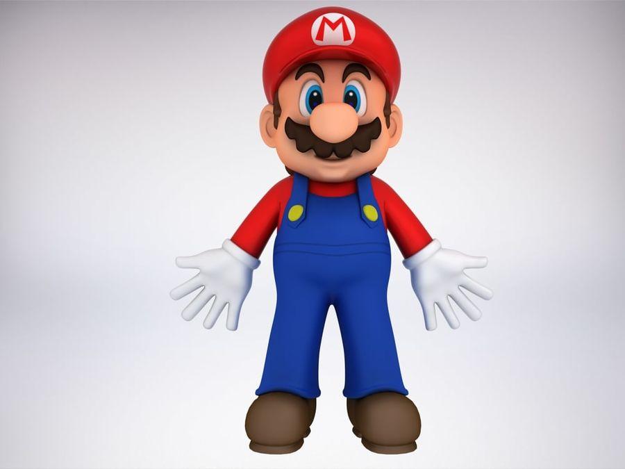 Mario Bros royalty-free 3d model - Preview no. 3
