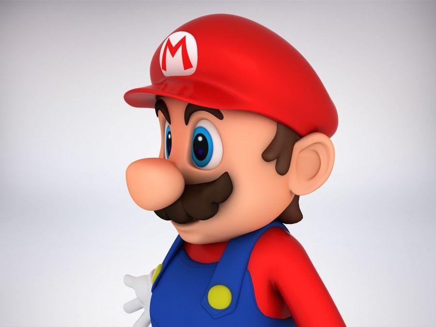 Mario Bros royalty-free 3d model - Preview no. 4