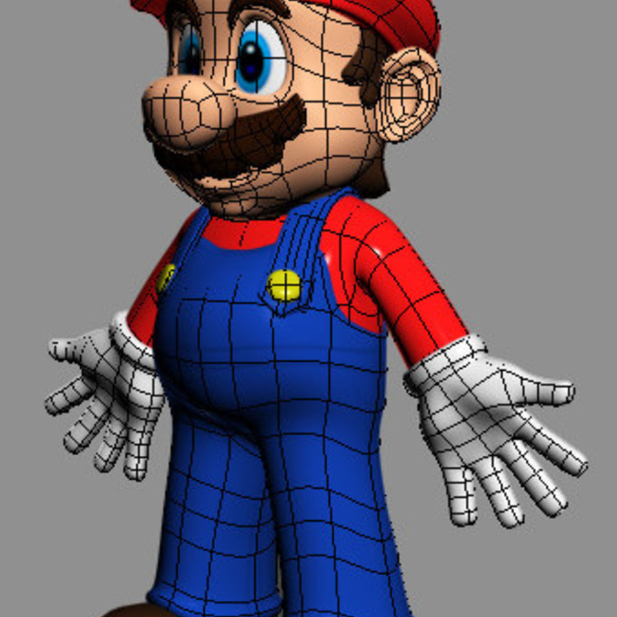 Mario Bros royalty-free 3d model - Preview no. 5