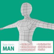 Maglia base maschile 3d model