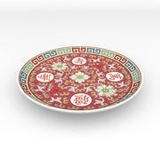 Prato de porcelana chinês 3d model