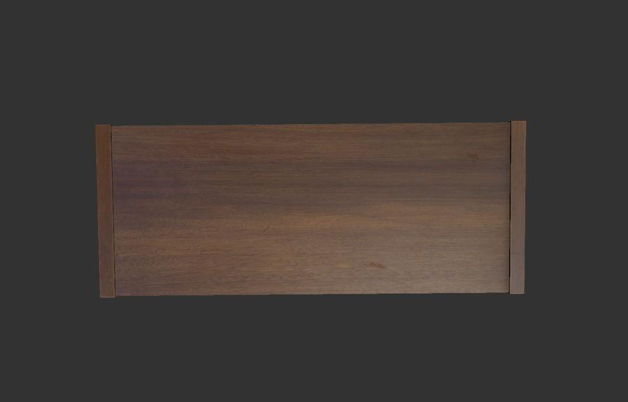 Современный деревянный стол - игра готова royalty-free 3d model - Preview no. 3
