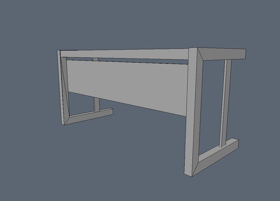 Современный деревянный стол - игра готова royalty-free 3d model - Preview no. 6