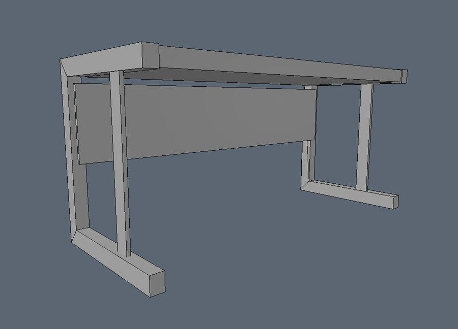 Современный деревянный стол - игра готова royalty-free 3d model - Preview no. 5