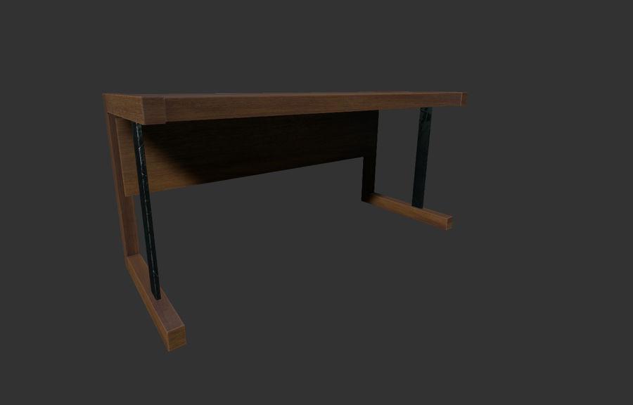 Современный деревянный стол - игра готова royalty-free 3d model - Preview no. 1