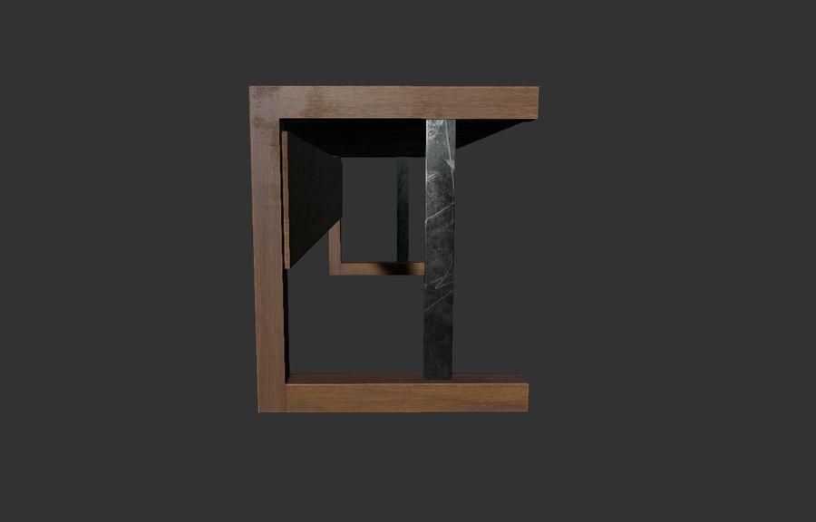 Современный деревянный стол - игра готова royalty-free 3d model - Preview no. 4