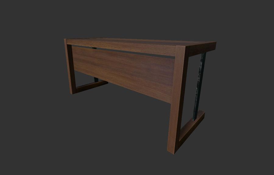 Современный деревянный стол - игра готова royalty-free 3d model - Preview no. 2
