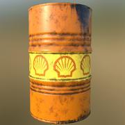 Shell oil Barrell 3d model