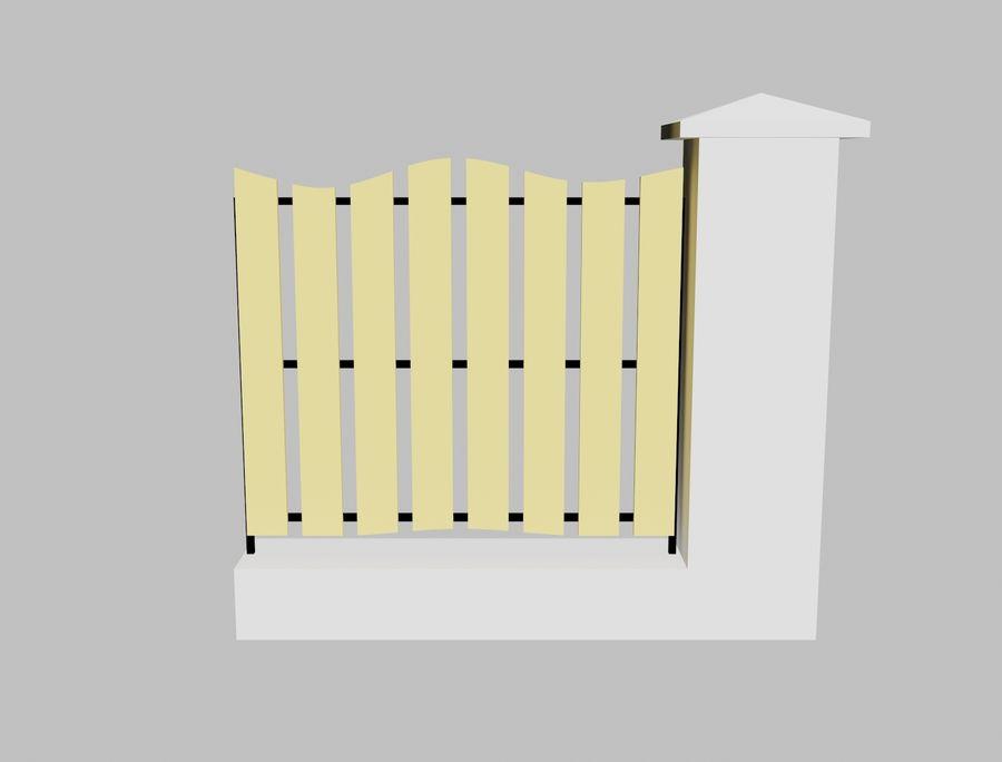 Recinzione in legno di legno royalty-free 3d model - Preview no. 1