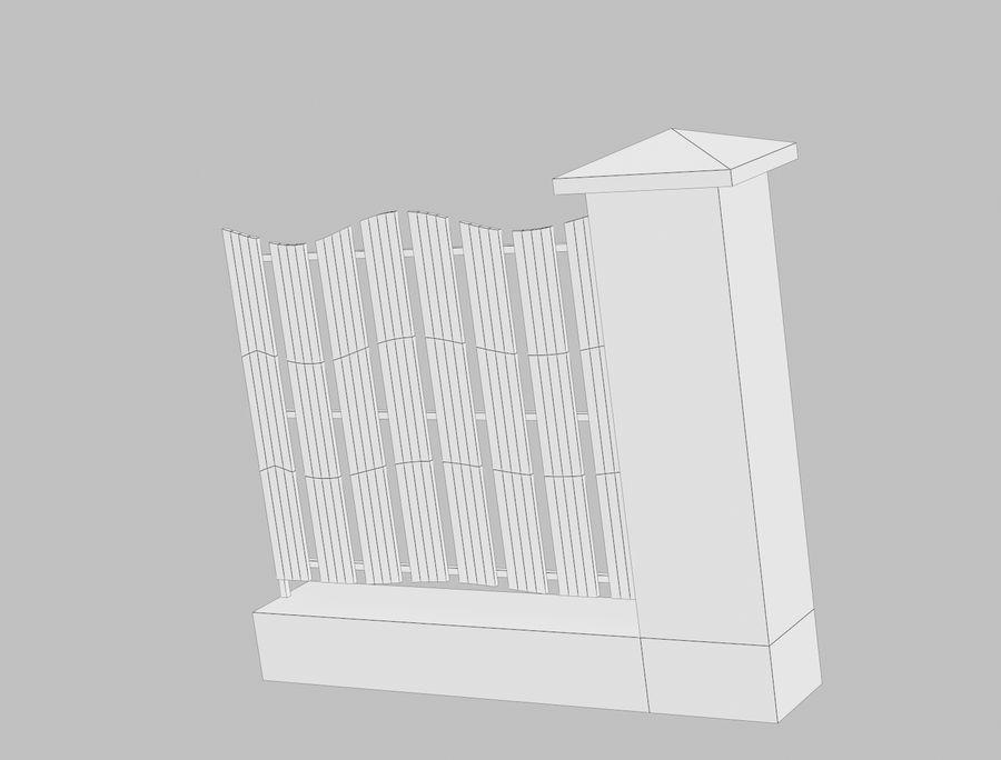 Recinzione in legno di legno royalty-free 3d model - Preview no. 14