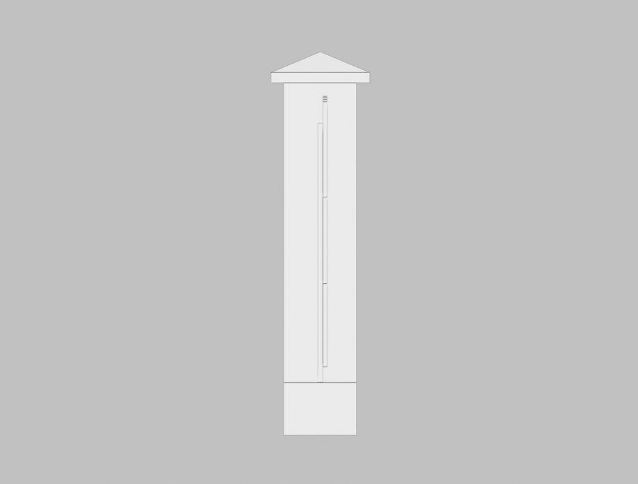 Recinzione in legno di legno royalty-free 3d model - Preview no. 12
