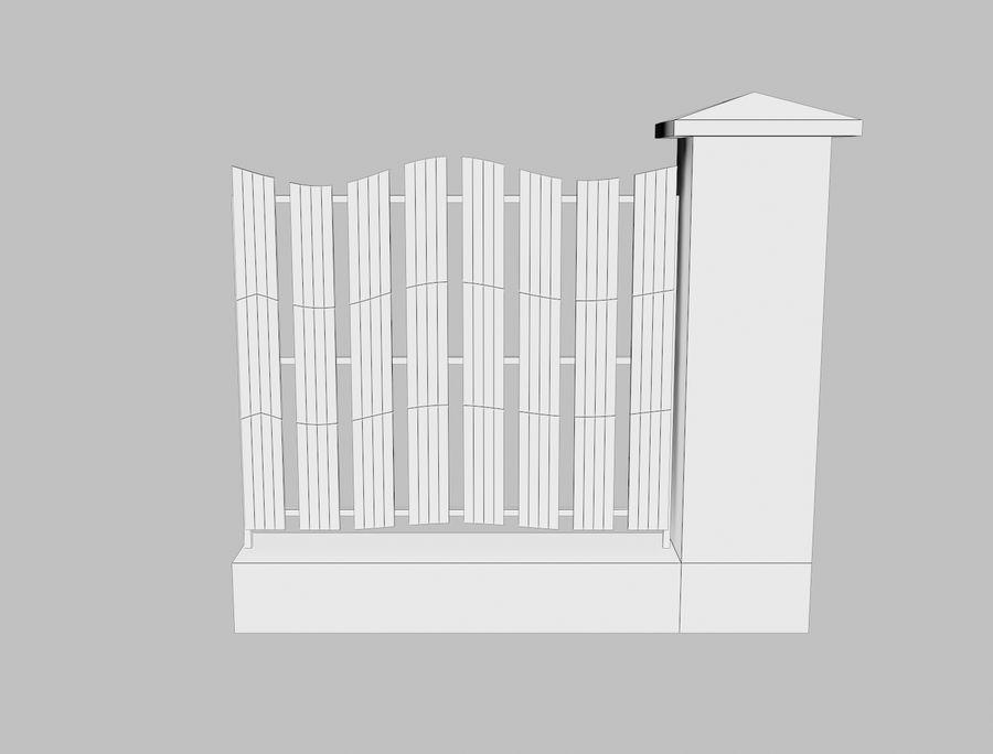 Recinzione in legno di legno royalty-free 3d model - Preview no. 15