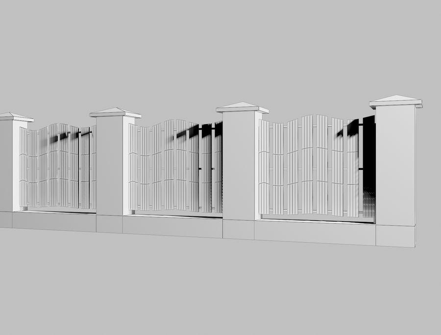 Recinzione in legno di legno royalty-free 3d model - Preview no. 8