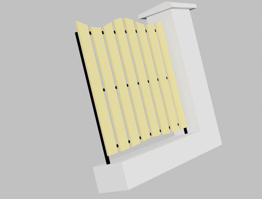 Recinzione in legno di legno royalty-free 3d model - Preview no. 3