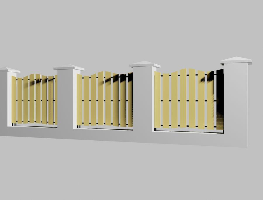Recinzione in legno di legno royalty-free 3d model - Preview no. 7
