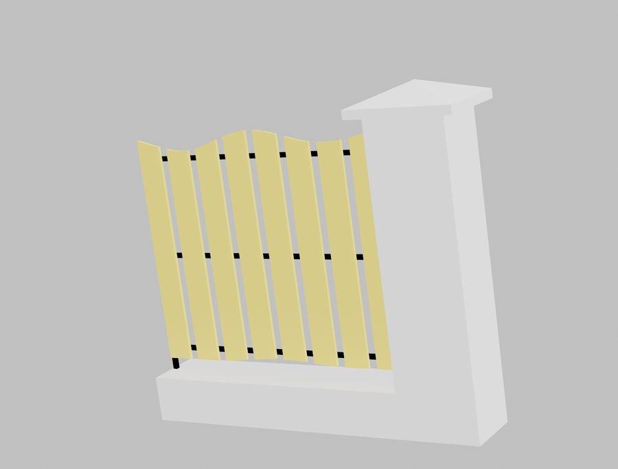 Recinzione in legno di legno royalty-free 3d model - Preview no. 2