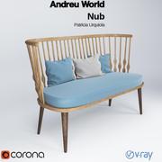 Andreu World Nub Bench 3d model