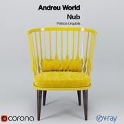 Andreu World Nub Armchair 3d model