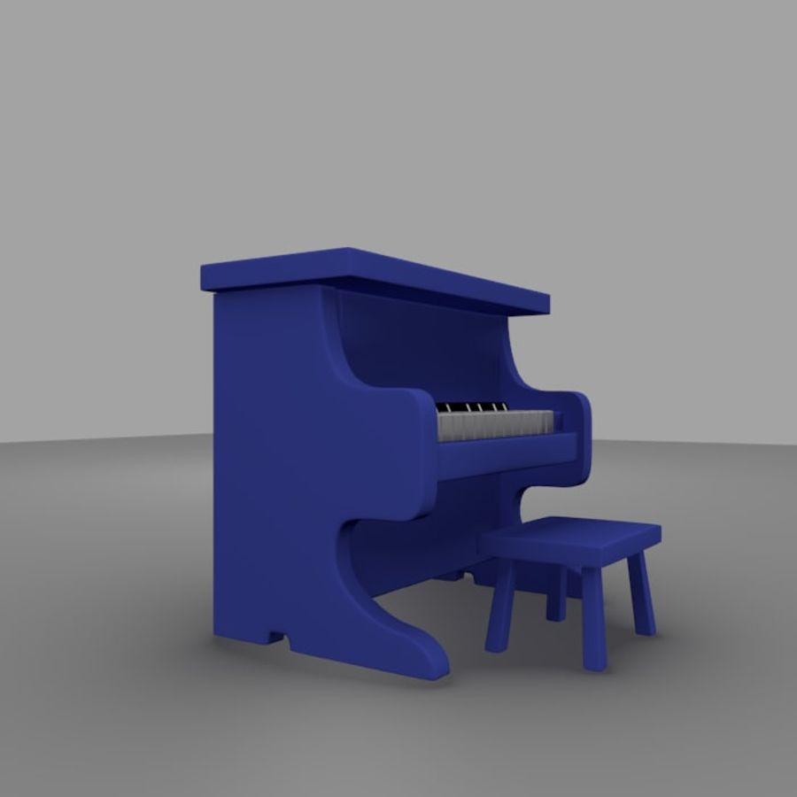 ピアノおもちゃ royalty-free 3d model - Preview no. 3