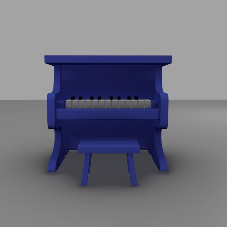 ピアノおもちゃ royalty-free 3d model - Preview no. 2