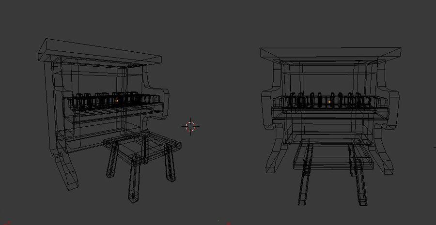 ピアノおもちゃ royalty-free 3d model - Preview no. 5