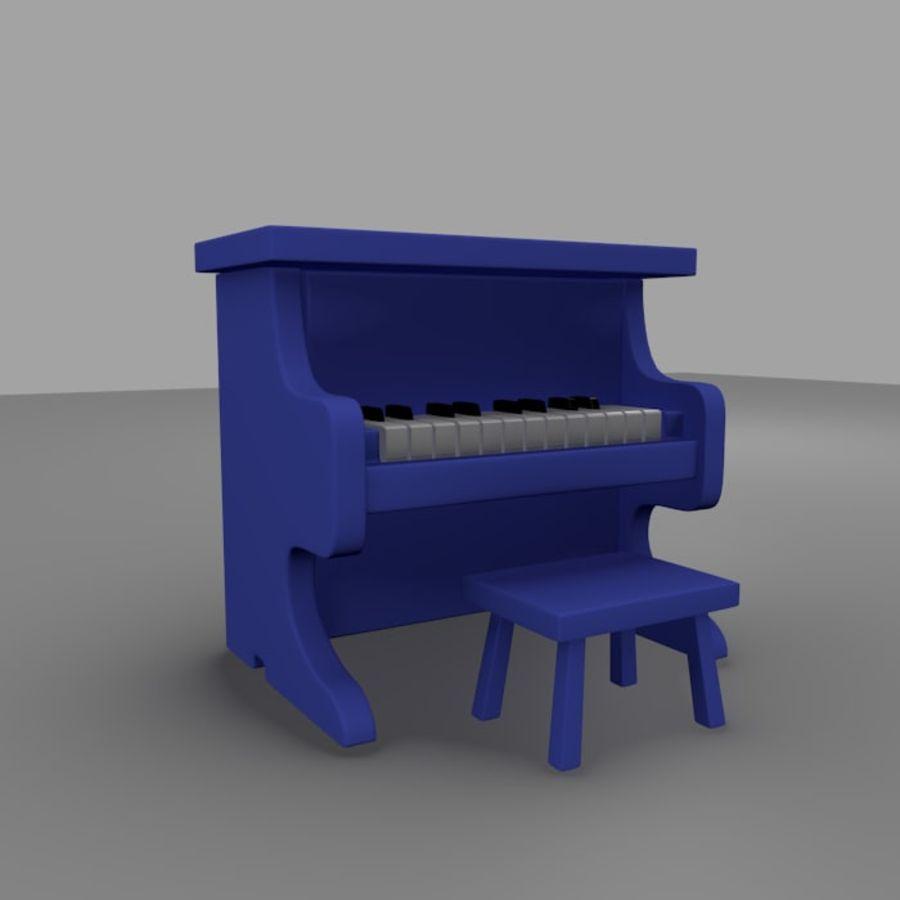 ピアノおもちゃ royalty-free 3d model - Preview no. 1