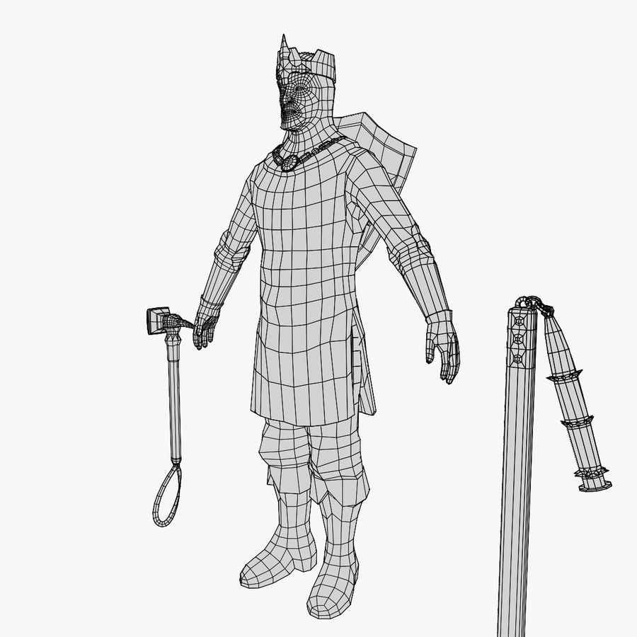 Knight Lord royalty-free 3d model - Preview no. 10