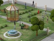 Stedelijk park 3d model