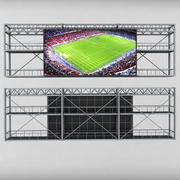 Scoreboard stadion tv ledd skärm 3d model