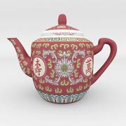 Bule de porcelana chinesa Wan Shou 3d model