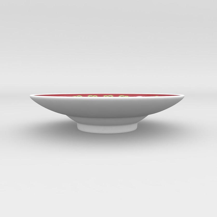 中国の磁器のワンシュウティーカップセット-Gongfu Gaiwan royalty-free 3d model - Preview no. 5