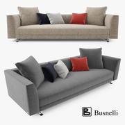 Busnelli Burton 3-zitsbank 3d model