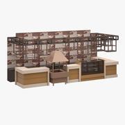 Bar Set 02 (Cafe) 3d model