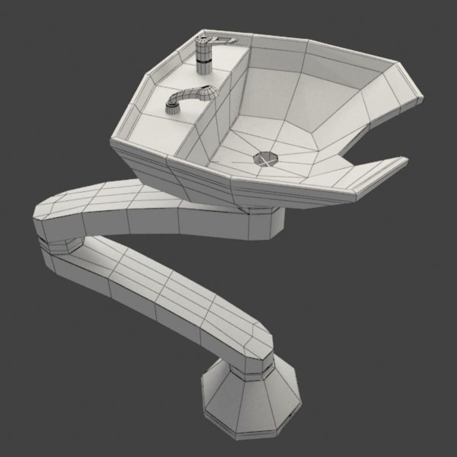 Shampoo Sink royalty-free 3d model - Preview no. 6