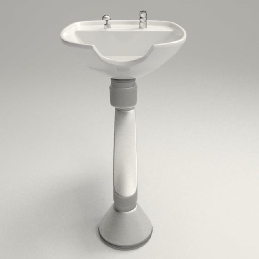 Shampoo Sink royalty-free 3d model - Preview no. 3