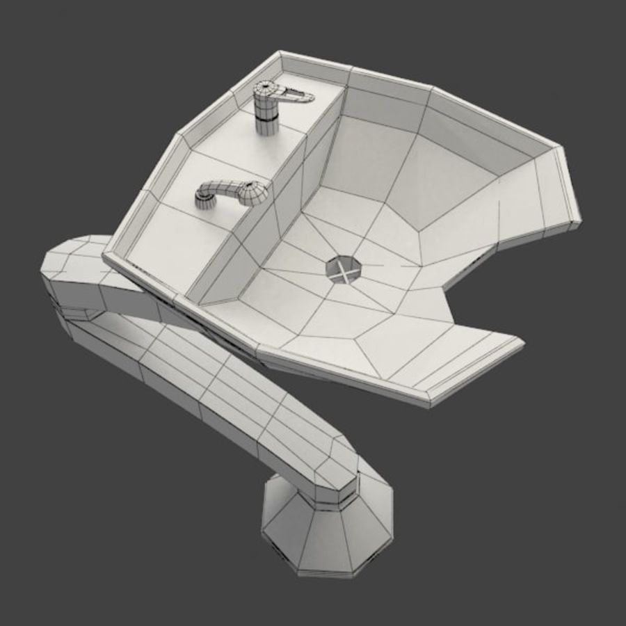 Shampoo Sink royalty-free 3d model - Preview no. 8