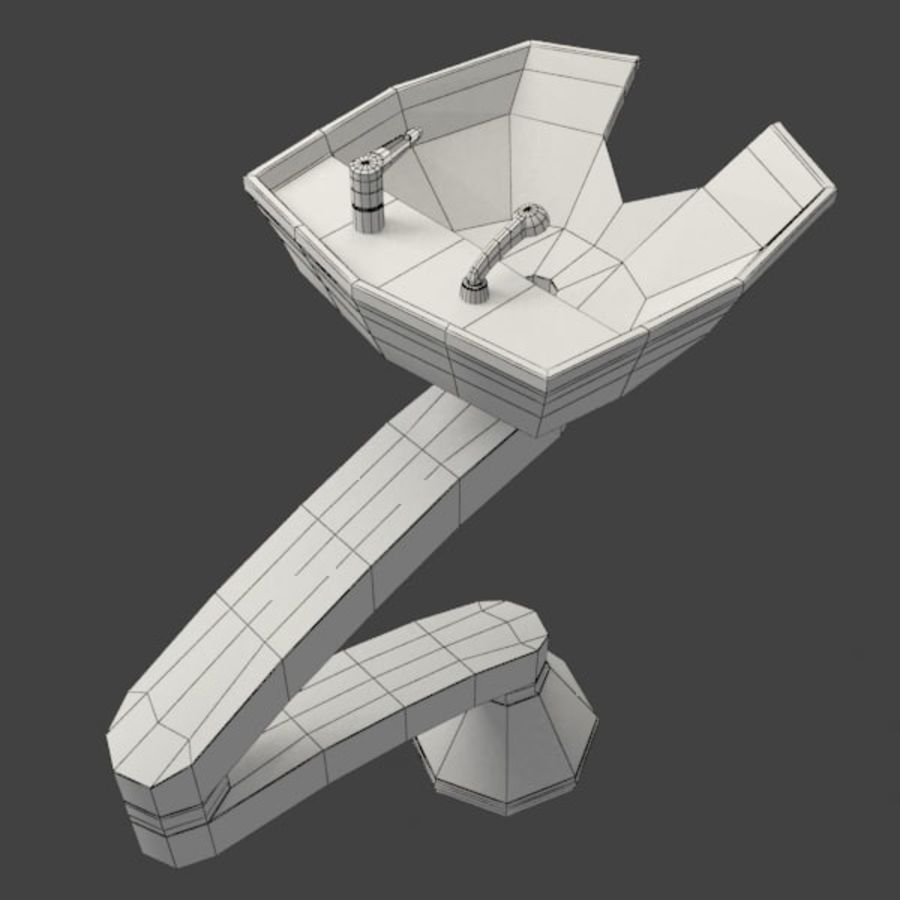 Shampoo Sink royalty-free 3d model - Preview no. 7
