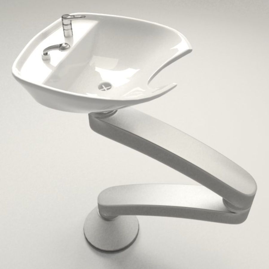 Shampoo Sink royalty-free 3d model - Preview no. 1