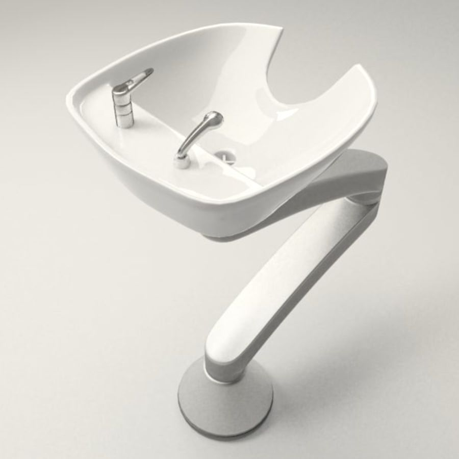 Shampoo Sink royalty-free 3d model - Preview no. 2