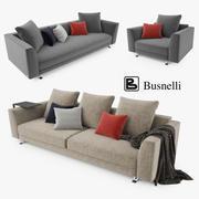 Busnelli Burton Sofa-collectie 3d model