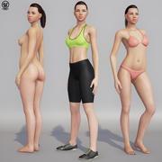 Adriana Unreal 4 Postać 3d model