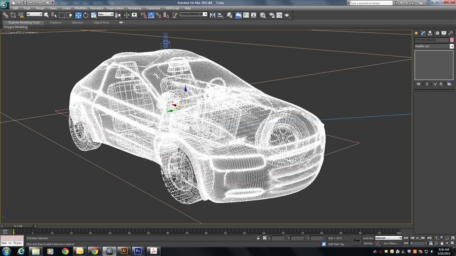 гоночный автомобиль royalty-free 3d model - Preview no. 5