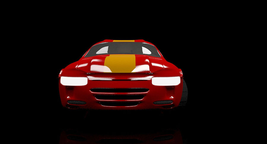 гоночный автомобиль royalty-free 3d model - Preview no. 4