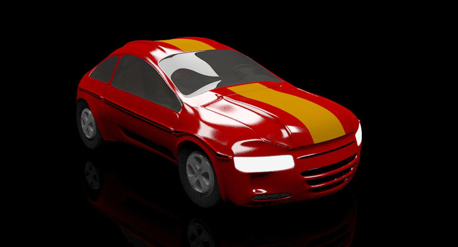 гоночный автомобиль royalty-free 3d model - Preview no. 3